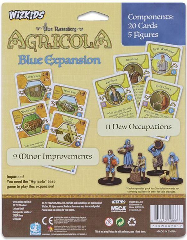 Agricola Game Expansion: Blue back of the box