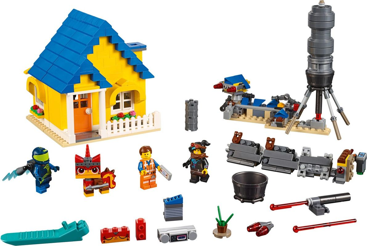 Emmet's Dream House with Rescue Rocket! components