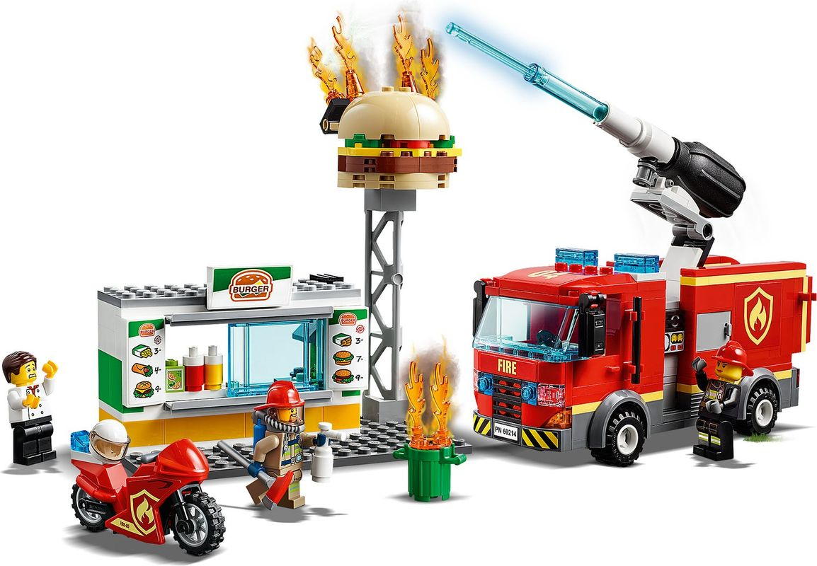 Burger Bar Fire Rescue gameplay