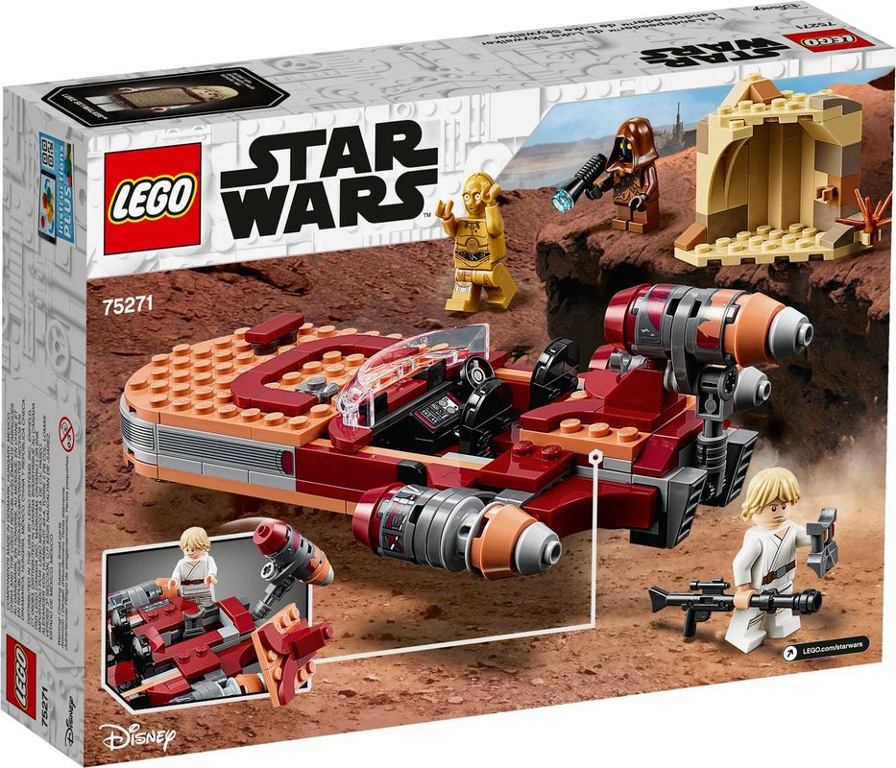 Luke Skywalker's Landspeeder™ back of the box