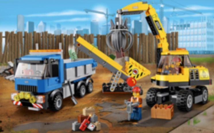Excavator and Truck gameplay