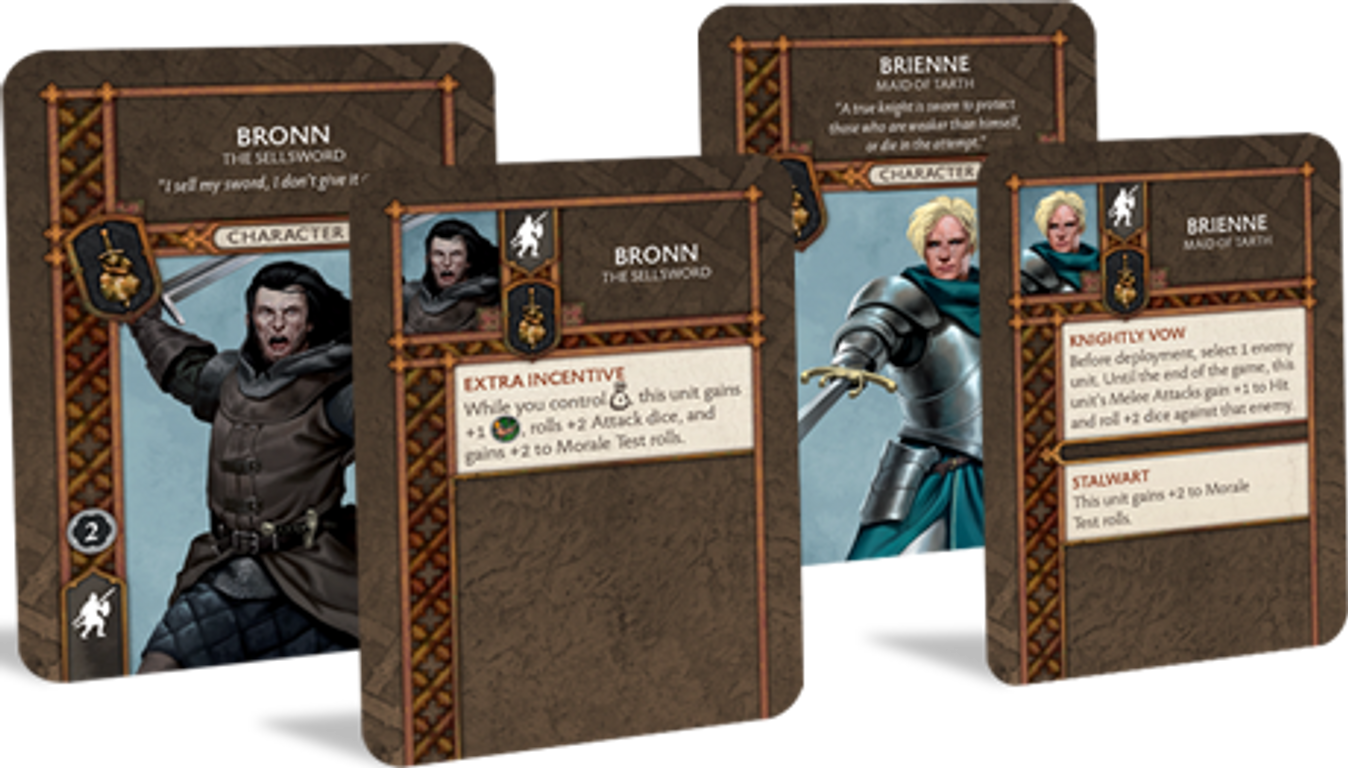 A Song of Ice & Fire: Tabletop Miniatures Game – Neutral Heroes II cards