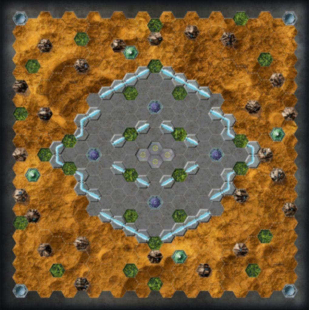 Space Freaks game board