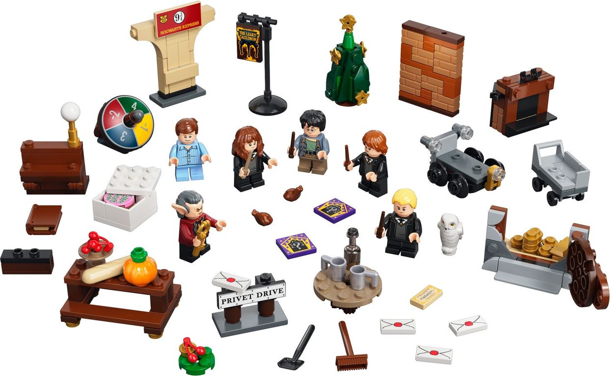 LEGO® Harry Potter™ Advent Calendar 2021 components