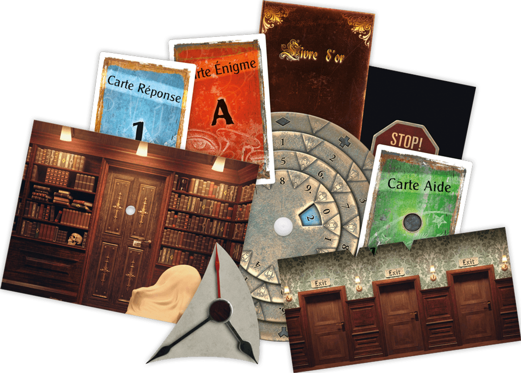 Exit: The Game - The Sinister Mansion components