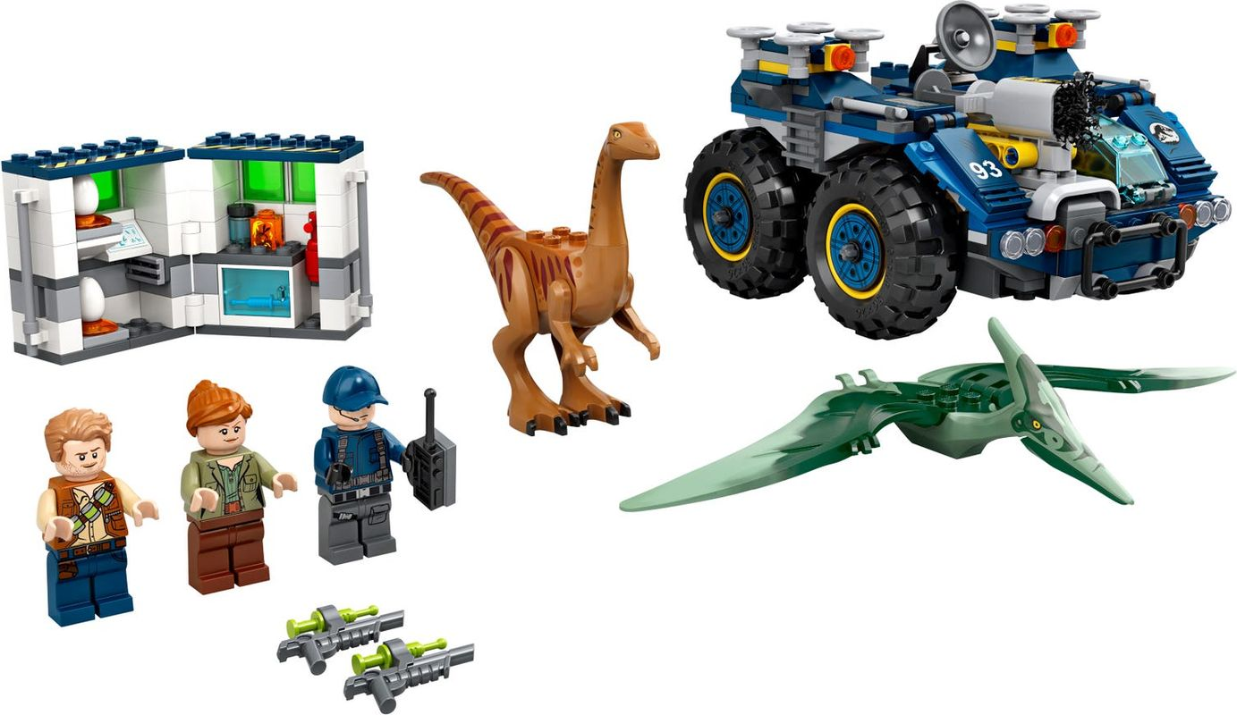 Gallimimus and Pteranodon Breakout components