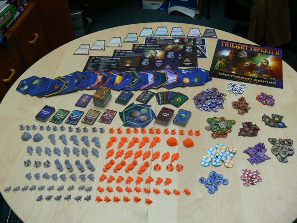 Twilight Imperium (Third Edition): Shattered Empire components
