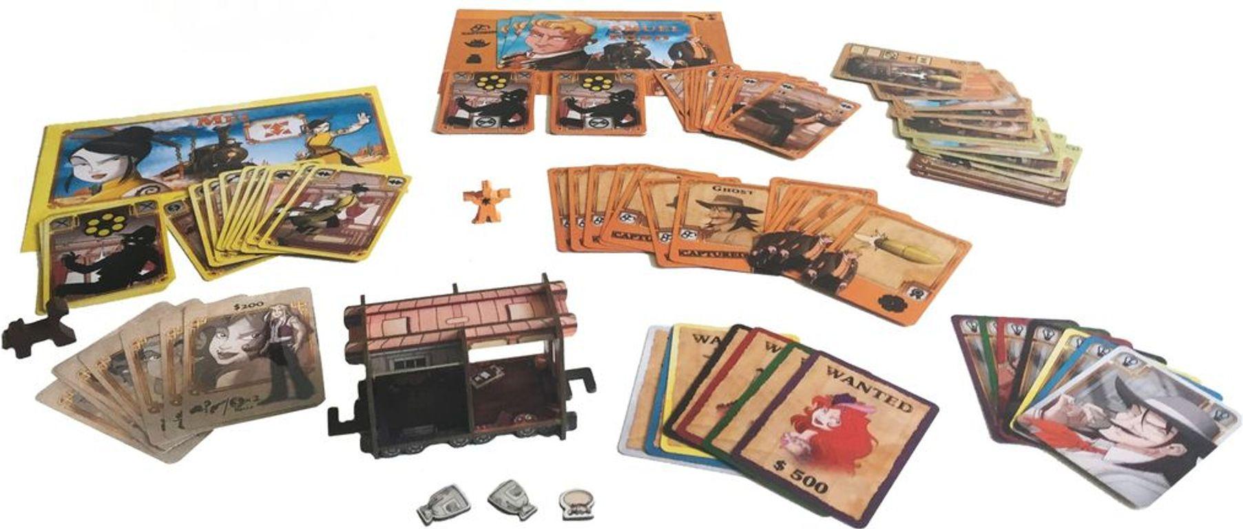 Colt Express: Marshal & Prisoners components