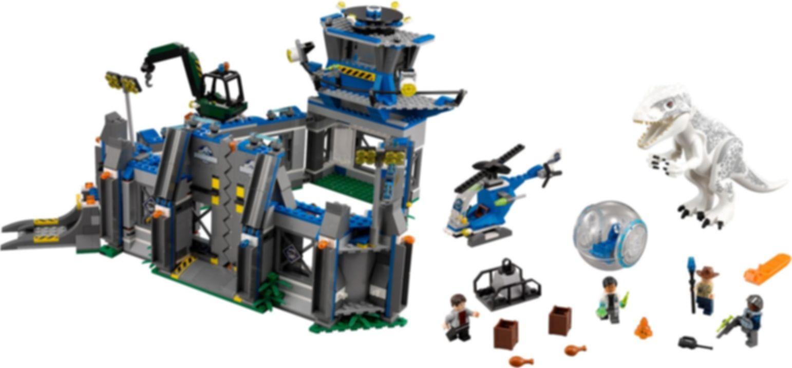 LEGO® Jurassic World Indominus Rex Breakout components