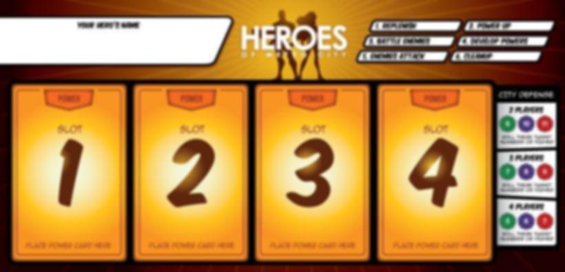 Heroes of Metro City game board