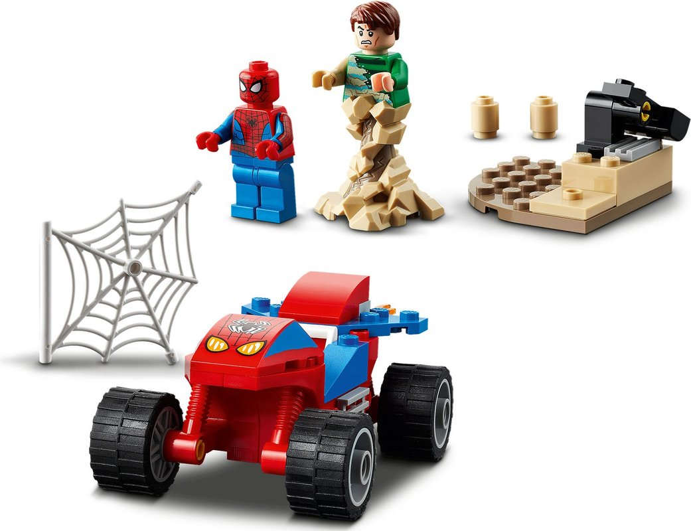 Spider-Man and Sandman Showdown components