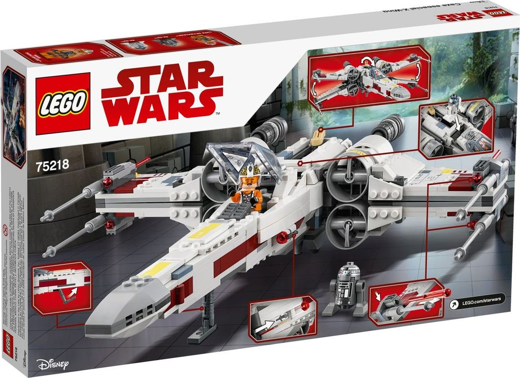 LEGO® Star Wars X-Wing Starfighter™ back of the box