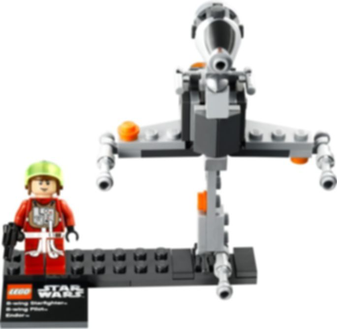LEGO® Star Wars B-wing Starfighter & Planet Endor components