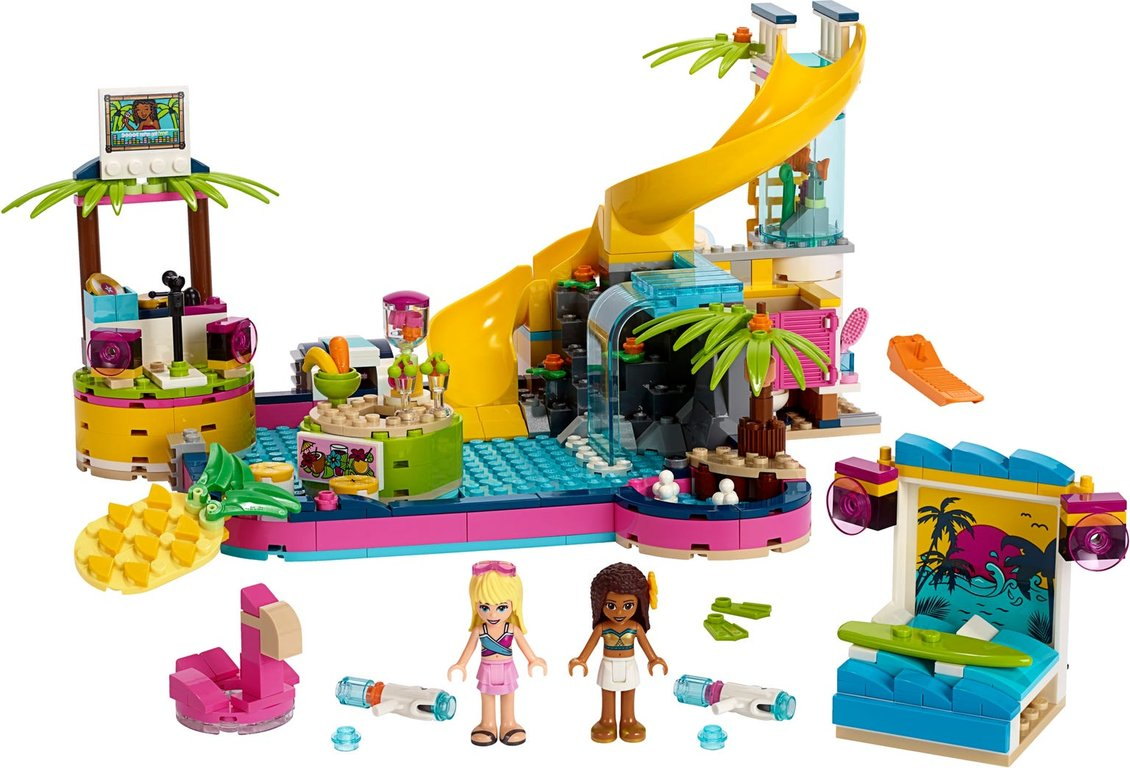 LEGO® Friends Andrea's Pool Party components