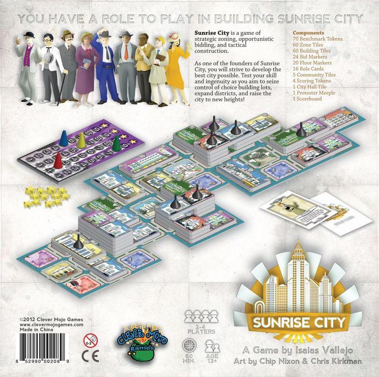 Sunrise City dos de la boîte