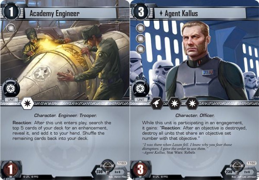 Star Wars: The Card Game - A Wretched Hive cards