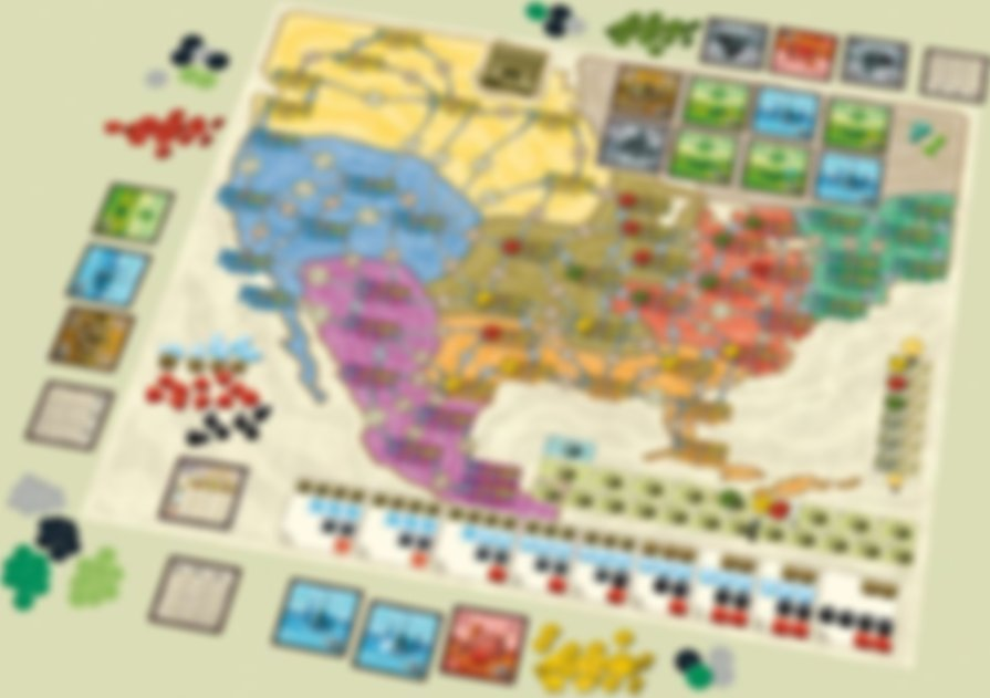 Power Grid deluxe: Europe/North America gameplay