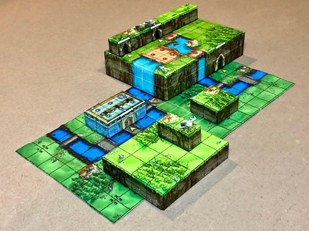 Tiny Epic Tactics game board