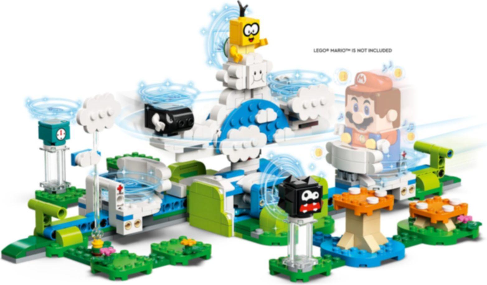 LEGO® Super Mario™ Lakitu Sky World Expansion Set gameplay