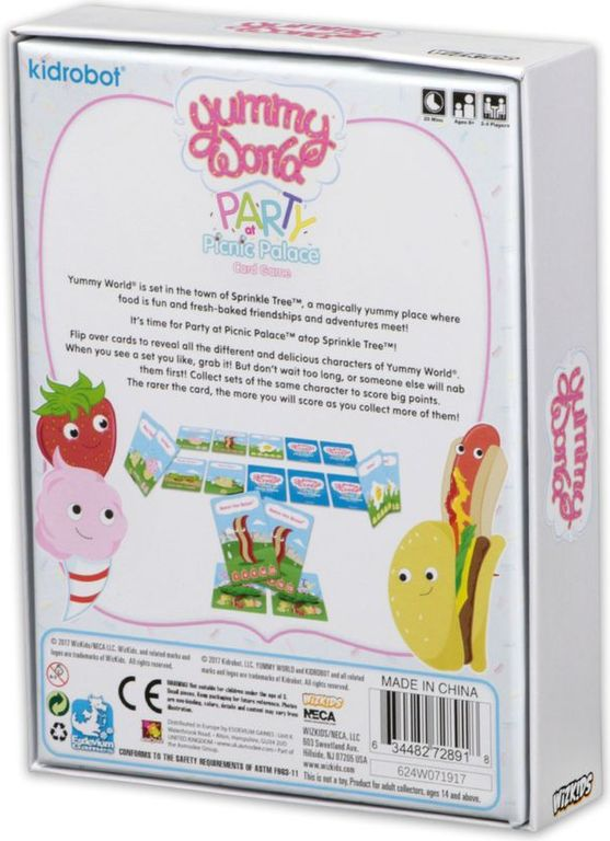 Yummy World: Party at Picnic Palace back of the box
