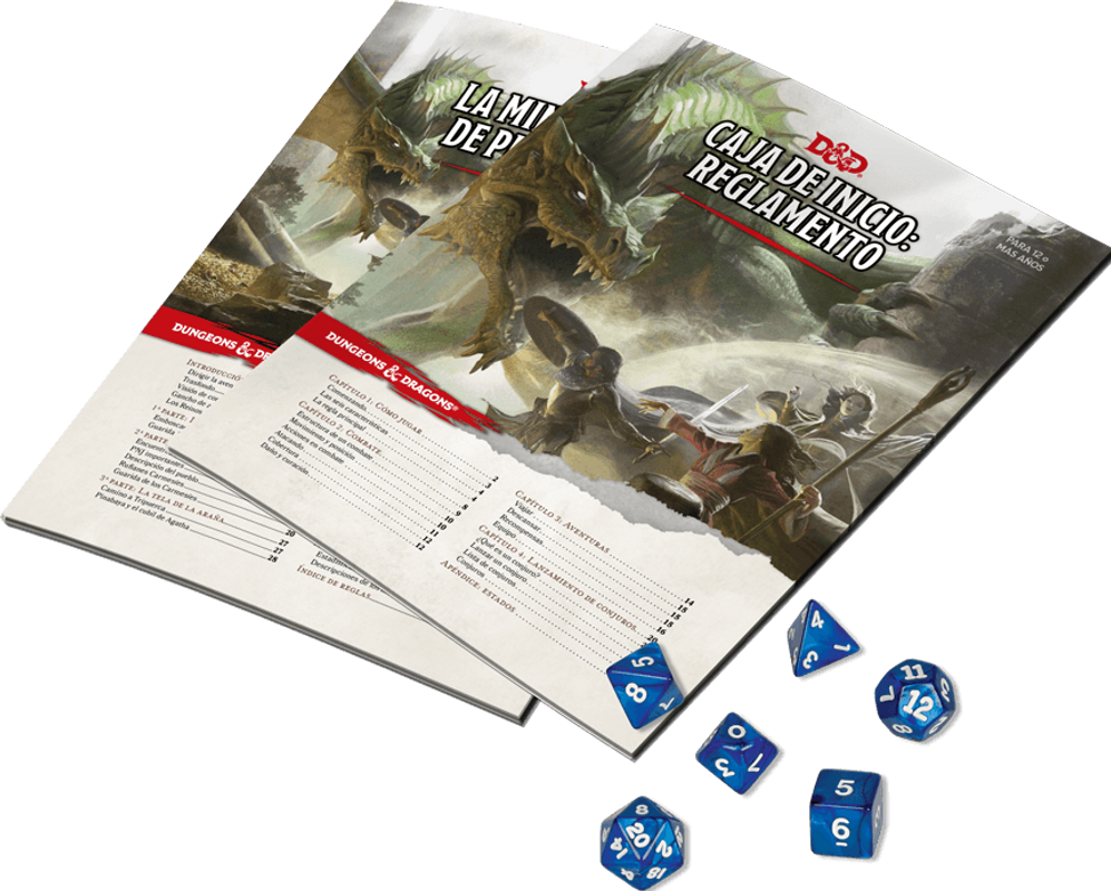 Dungeons & Dragons Starter Set composants