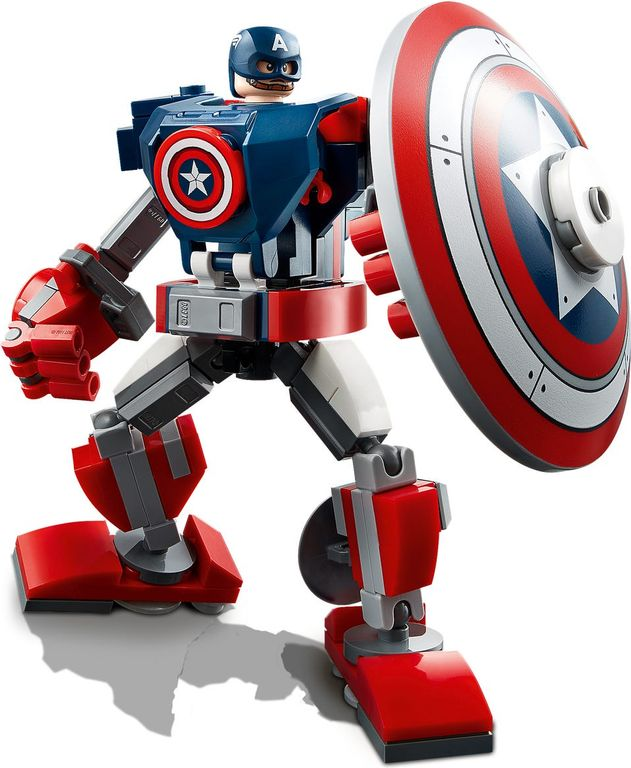 LEGO® Marvel Captain America Mech Armor components