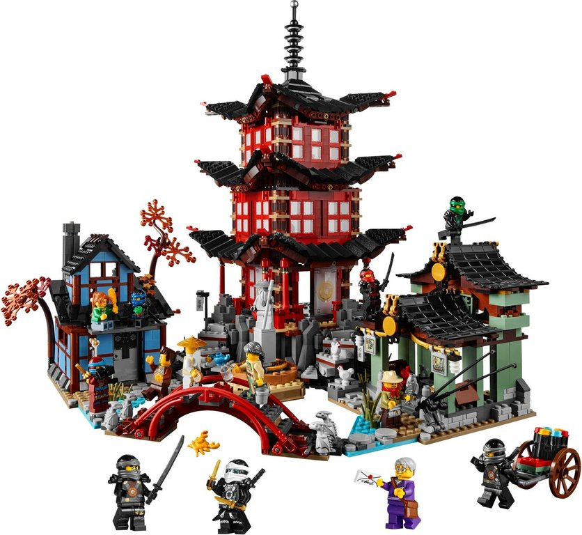 LEGO® Ninjago Temple of Airjitzu components