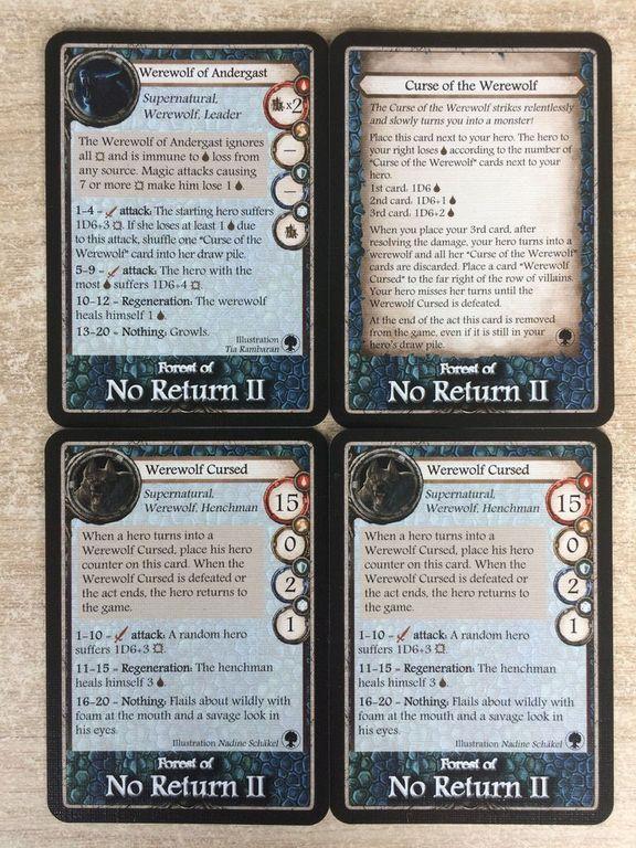 Aventuria: Forest of No Return cartes