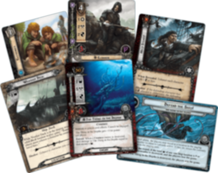 The Lord of the Rings: The Card Game - The Thing in the Depths cards