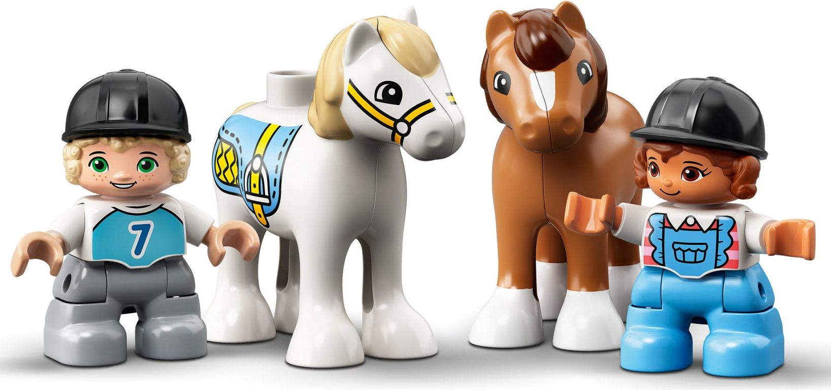 LEGO® DUPLO® Horse Stable and Pony Care minifigures