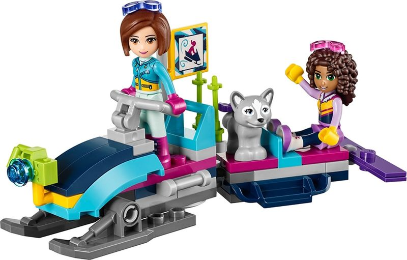 LEGO® Friends Snow Resort Chalet components