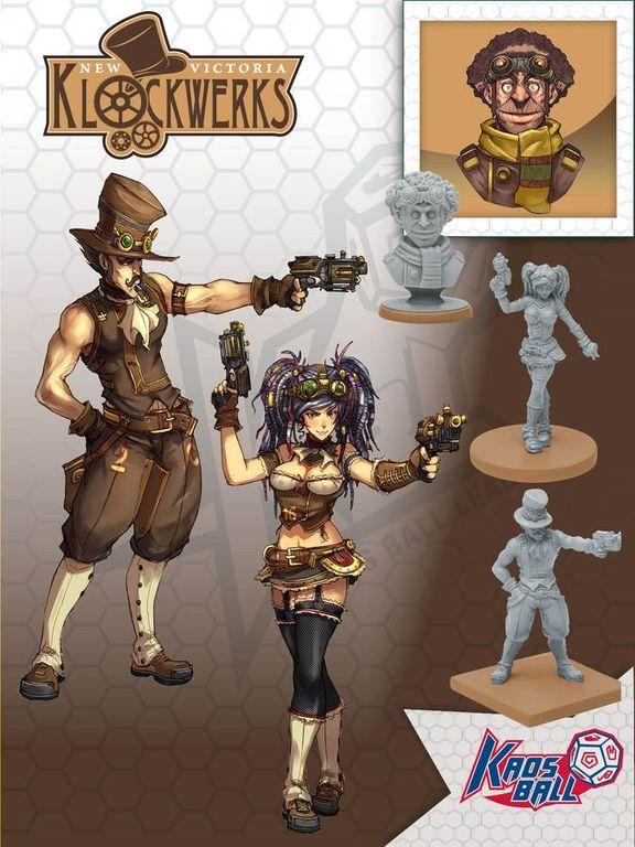 Kaosball: Team - New Victoria Klockwerks miniatures