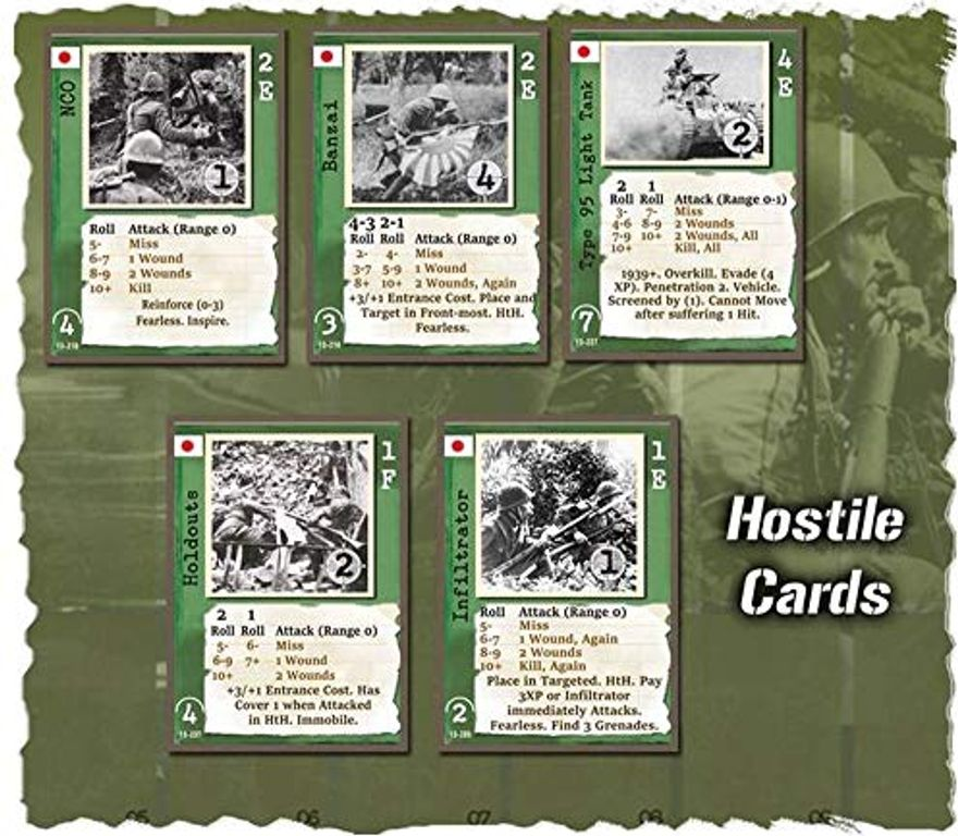 Warfighter: The WWII Pacific Combat Card Game cards