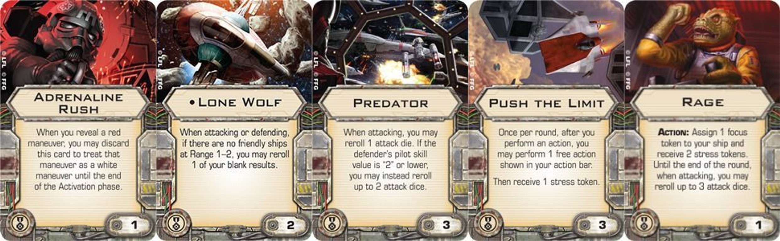 Star Wars: X-Wing Miniatures Game - Punishing One cards