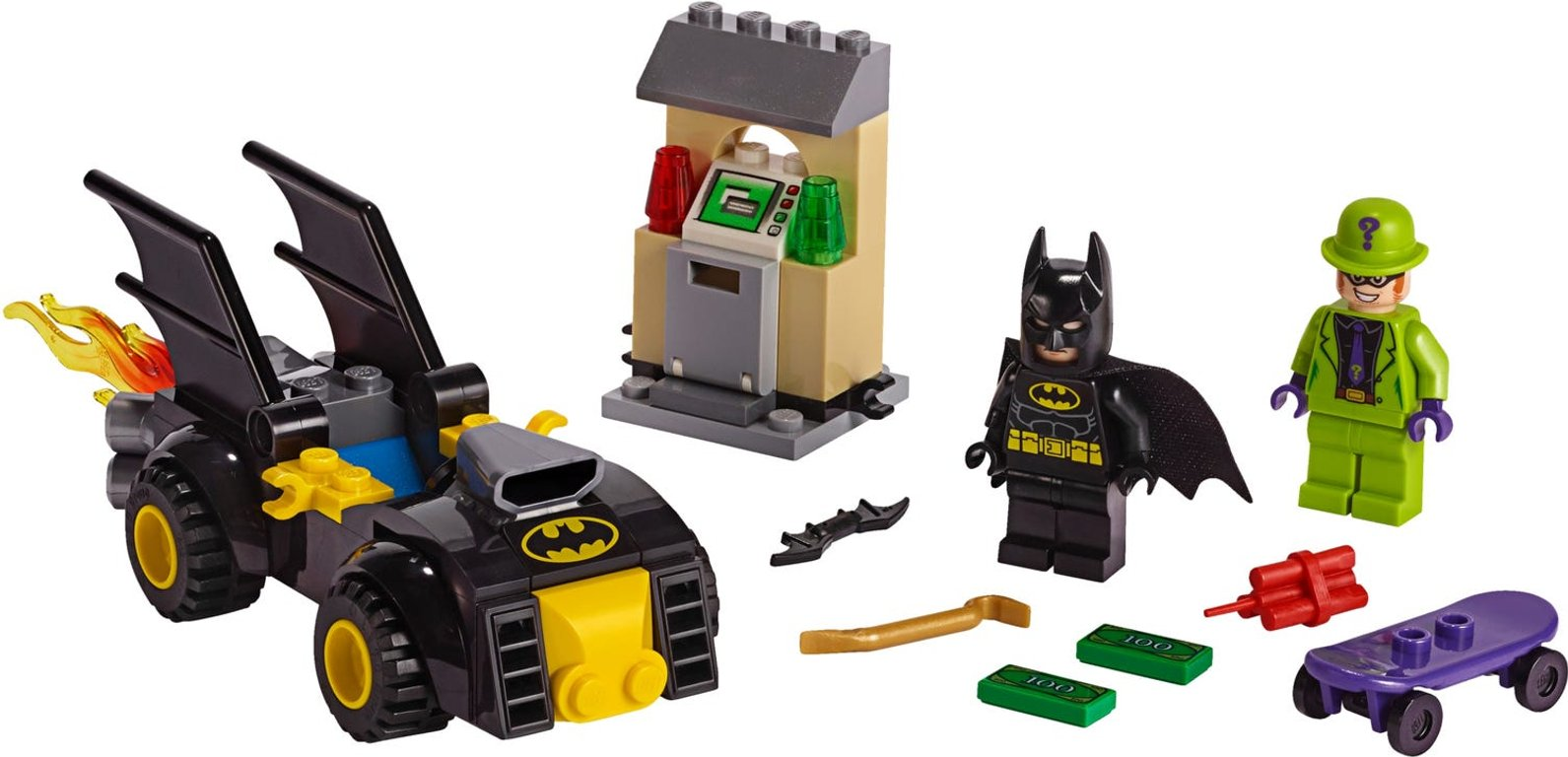 LEGO® DC Superheroes Batman™ vs. The Riddler™ Robbery components