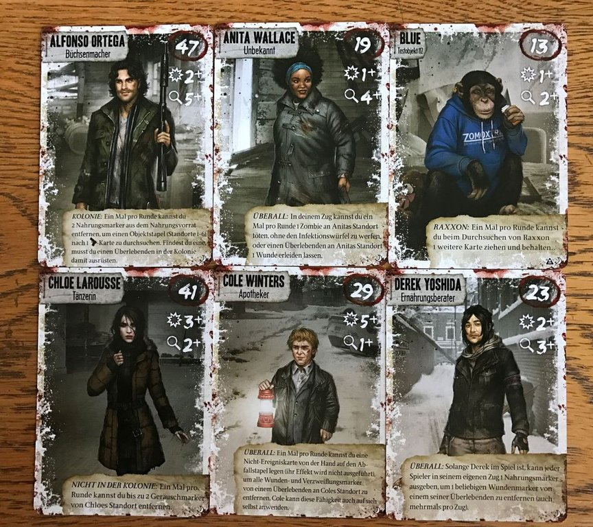 Dead of Winter: The Long Night cards