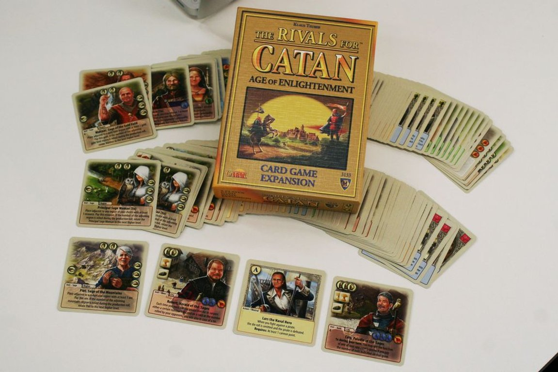 The Rivals for Catan: Age of Enlightenment components