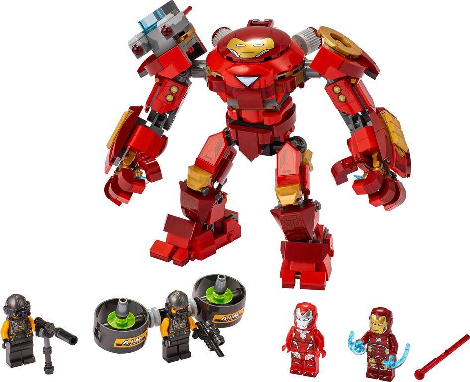 LEGO® Marvel Iron Man Hulkbuster versus A.I.M. Agent components