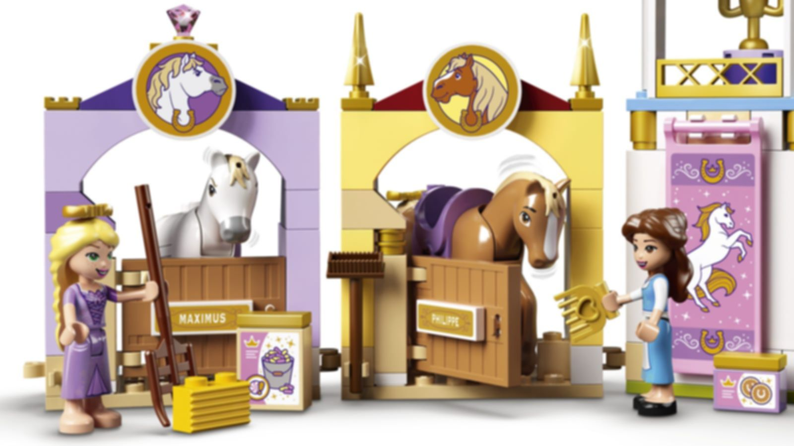 LEGO® Disney Belle and Rapunzel's Royal Stables gameplay