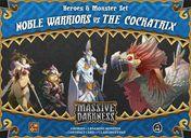 Massive Darkness: Heroes & Monster Set - Noble Warriors vs The Cockatrix