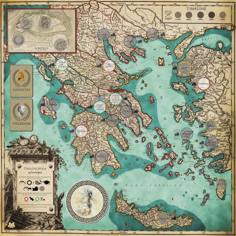Philosophia: Dare to be Wise game board