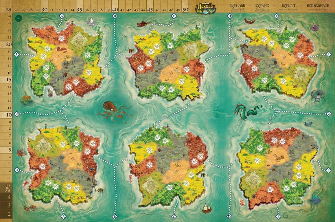 Heroes of Land, Air & Sea: Order and Chaos game board