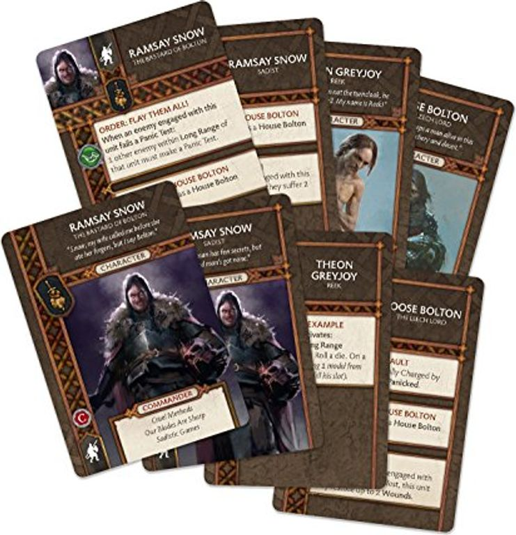 A Song of Ice & Fire: Tabletop Miniatures Game – Neutral Heroes I cards
