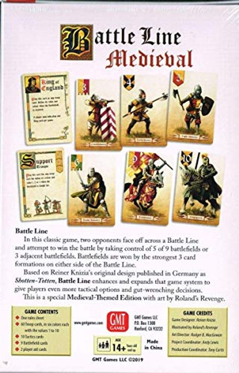 Battle Line: Medieval back of the box