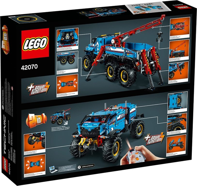 LEGO® Technic 6x6 All Terrain Tow Truck back of the box