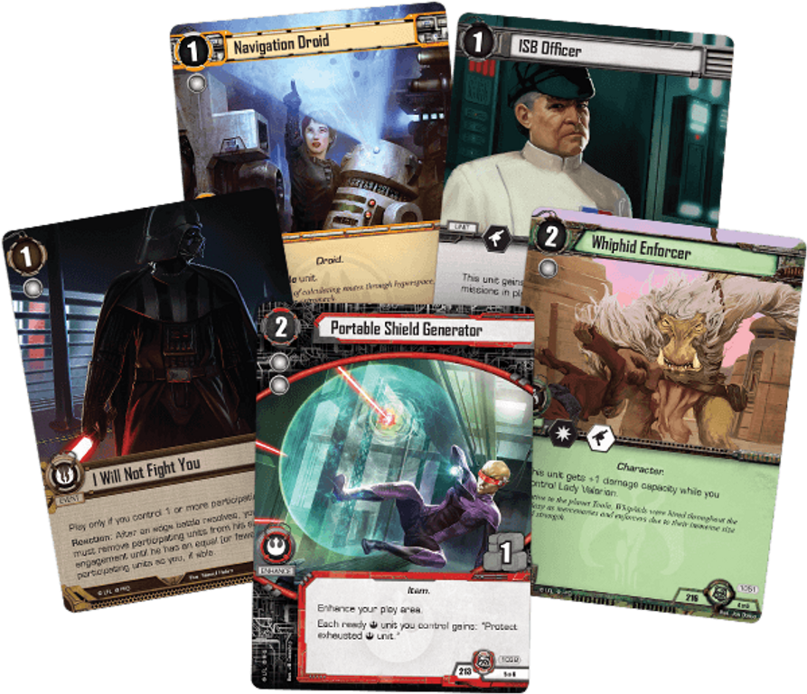 Star Wars: The Card Game - Redemption and Return cards