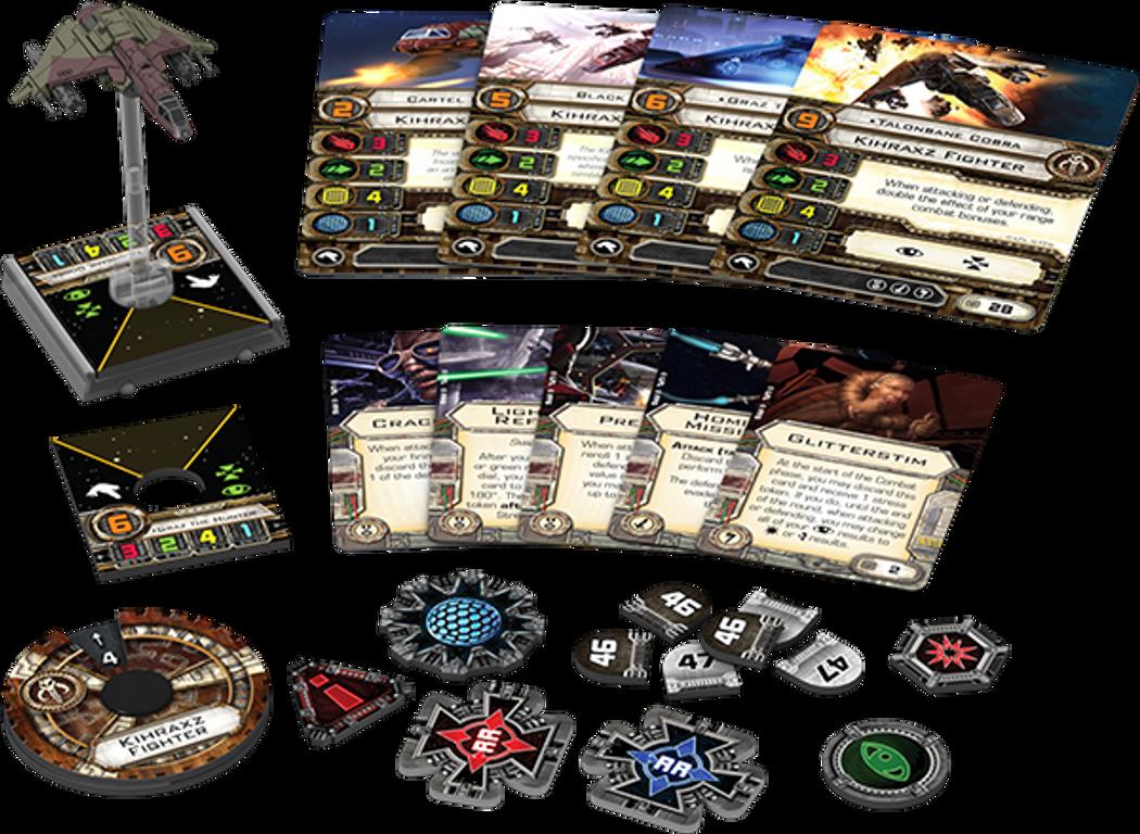 Star Wars X-Wing: El juego de miniaturas - Caza Kihraxz Pack de Expansión partes