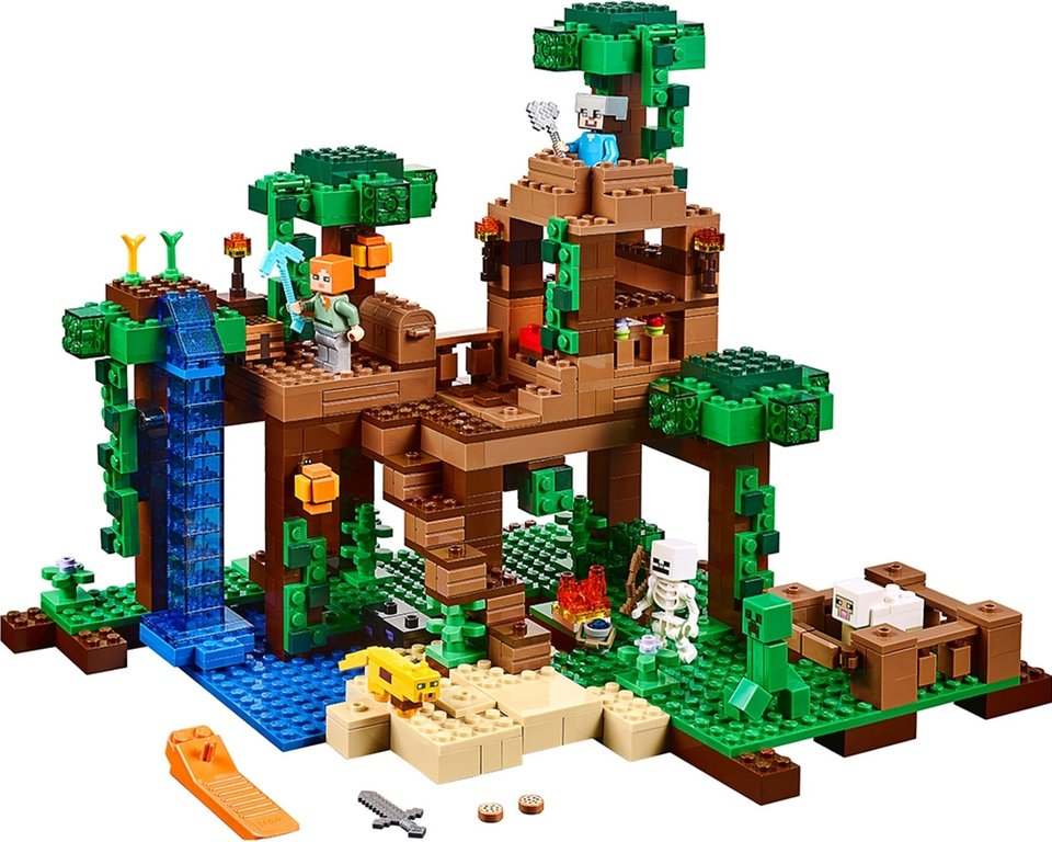 LEGO® Minecraft The Jungle Tree House components