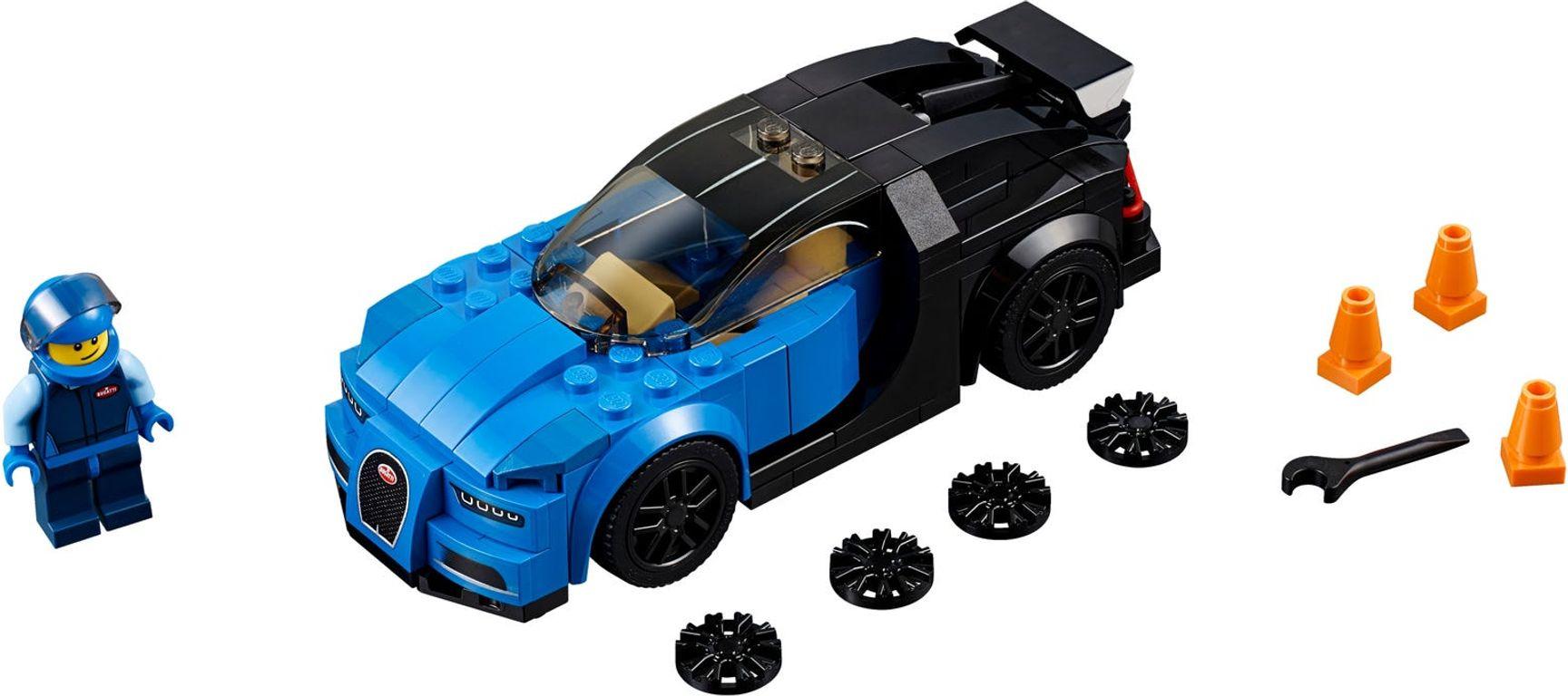 LEGO® Speed Champions Bugatti Chiron components