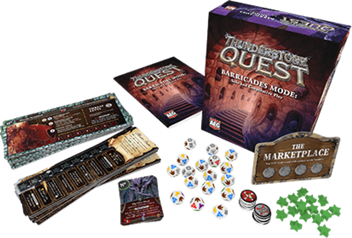 Thunderstone Quest: Barricades Mode components